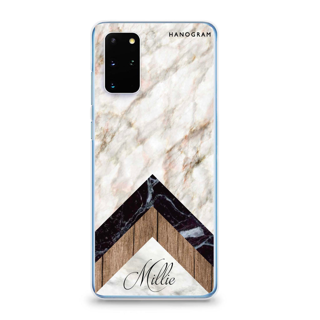 Marble & Wood Samsung S20 Plus Soft Clear Case