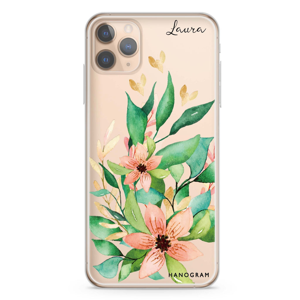 Floral Bloom iPhone 11 Pro Max Soft Clear Case