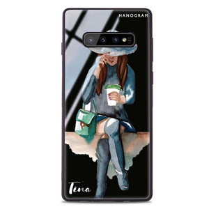 Coffee Girl Samsung S10 Plus Glass Case