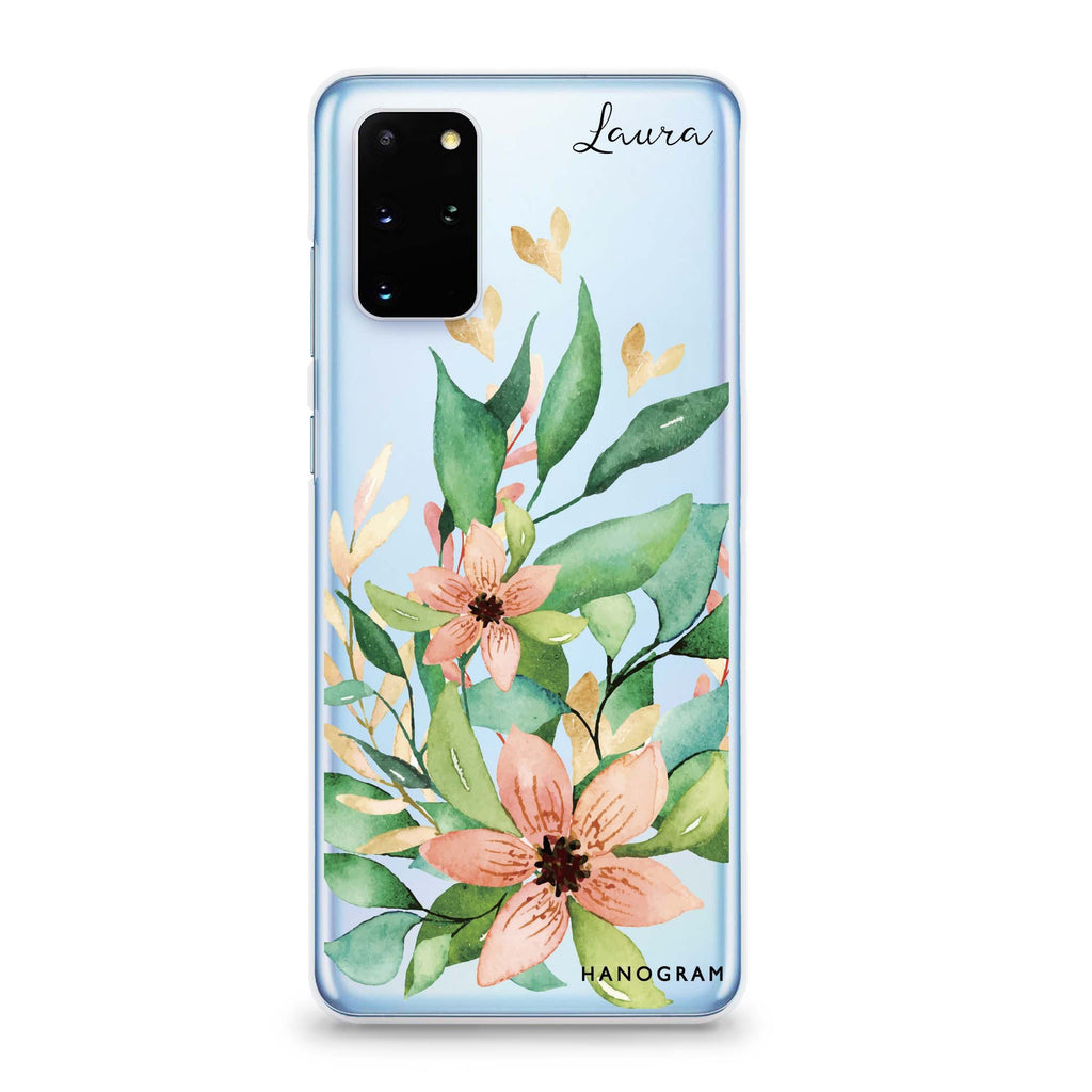Floral Bloom Samsung S20 Soft Clear Case