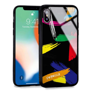 Brush Paint iPhone XS Max Glass Case