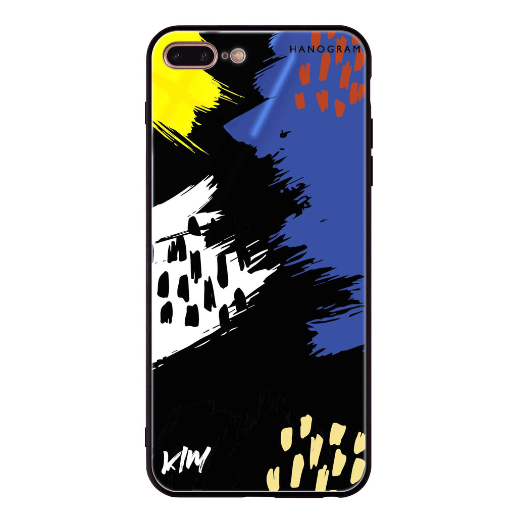 Trendy Abstract I iPhone 8 Plus Glass Case