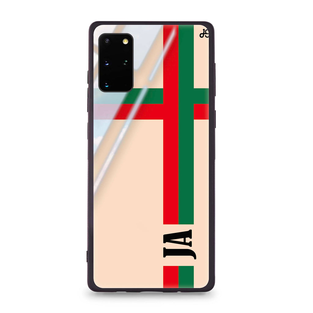 Matching Stripes Samsung S20 Plus Glass Case
