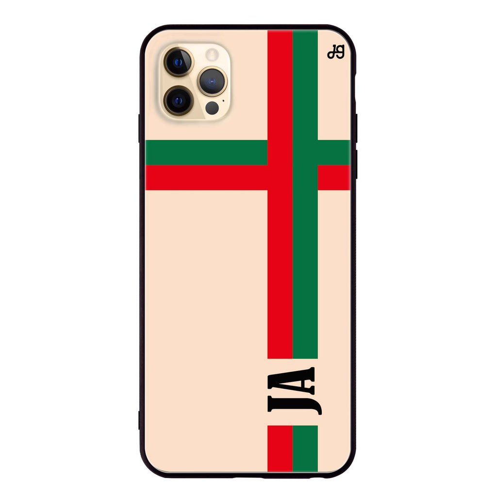 Matching Stripes iPhone 12 Pro Glass Case