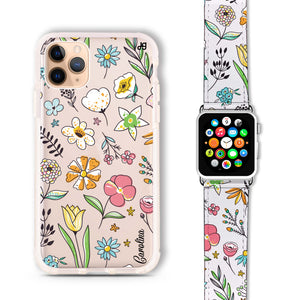 Spring Moment - Frosted Bumper Case and Watch Band