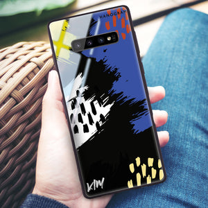Trendy Abstract I Samsung S10 Plus Glass Case