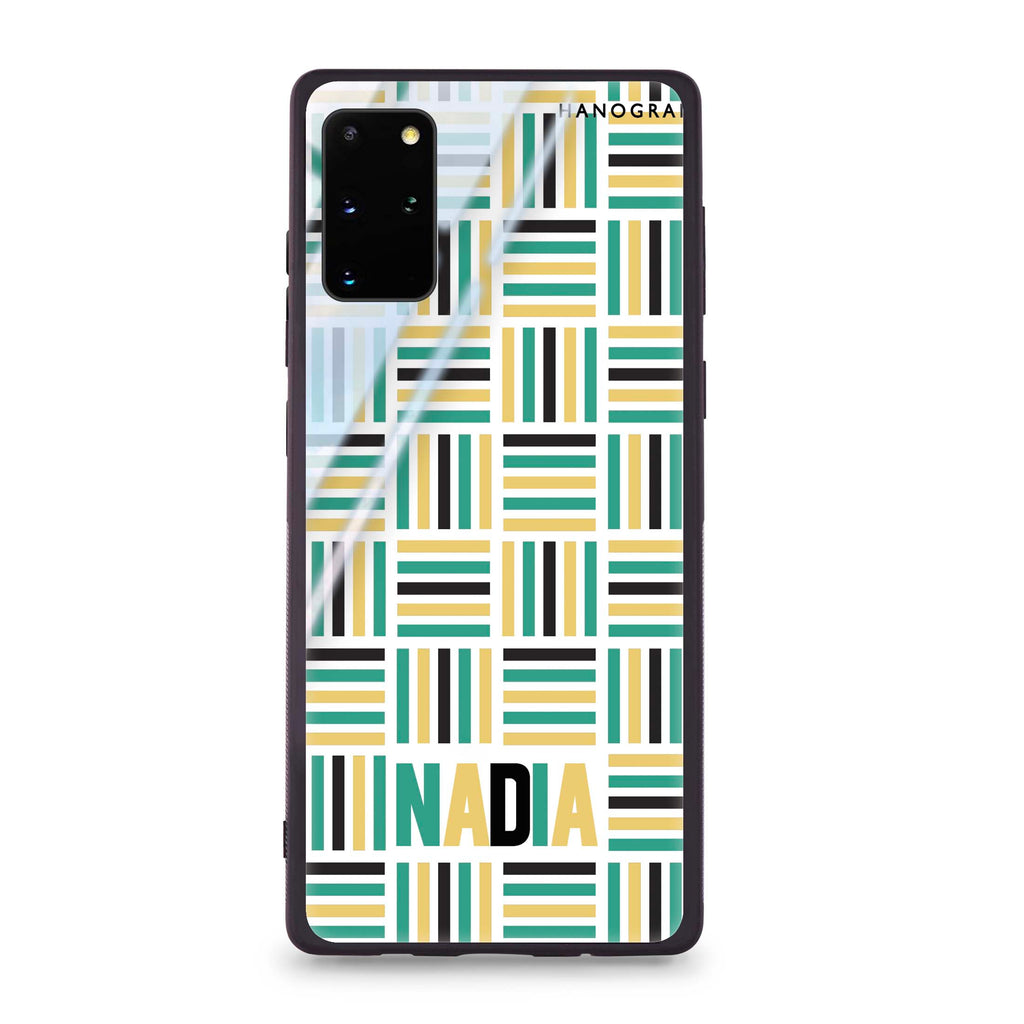 Stripes Camo Samsung S20 Plus Glass Case