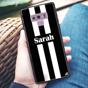 Black and white Stripes Samsung Note 9 Glass Case