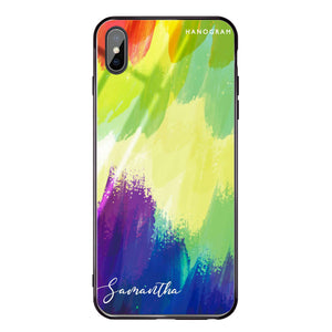 Watercolor Abstract iPhone XS Max Glass Case