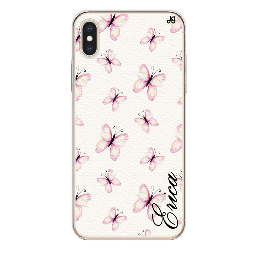Vintage Butterfly iPhone XS Max Soft Clear Case