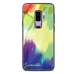 Watercolor Abstract Samsung S9 Plus Glass Case
