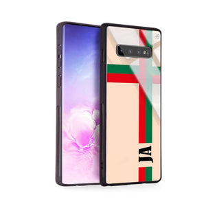 Matching Stripes Samsung S10 Plus Glass Case