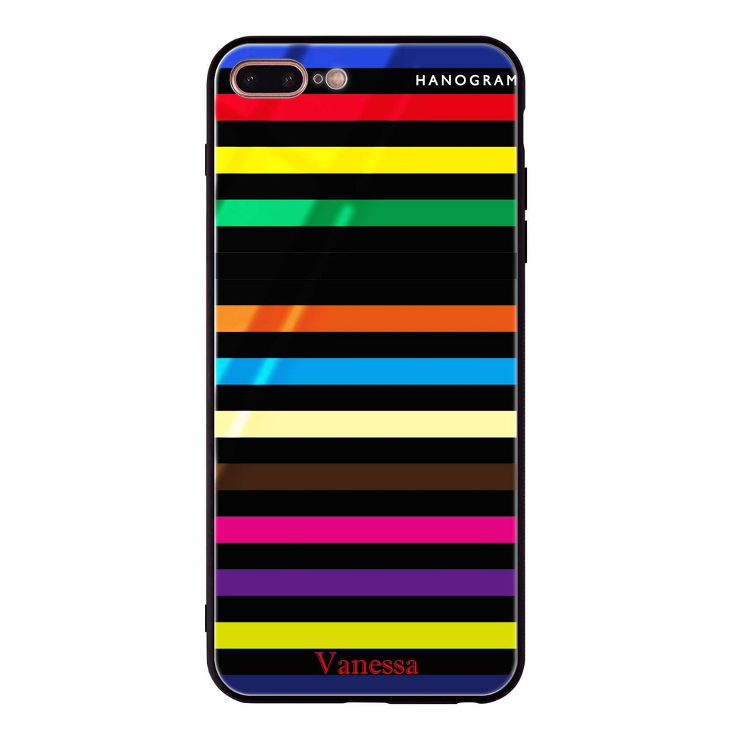 colorful stripe iPhone 8 Plus Glass Case