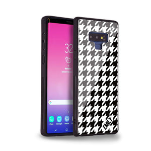 Houndstooth Samsung Note 9 Glass Case