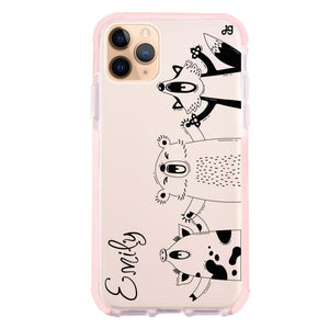 Funny Animals Frosted Bumper Case