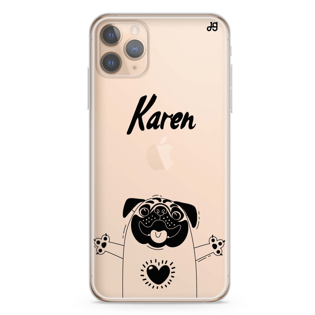 Lovely Pug iPhone 11 Pro Max Soft Clear Case