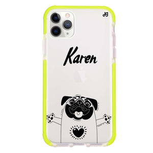 Lovely Pug Shockproof Bumper Case