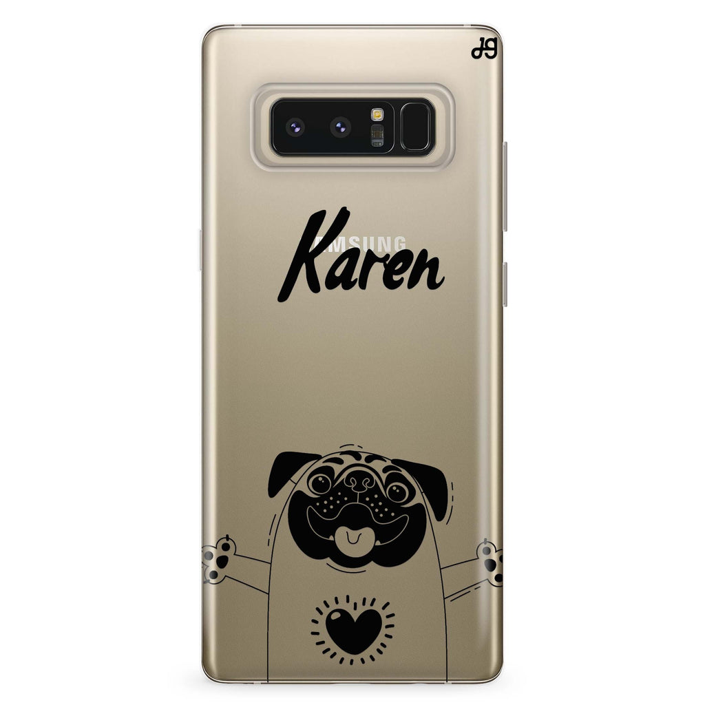 Lovely Pug Samsung Note 8 Soft Clear Case