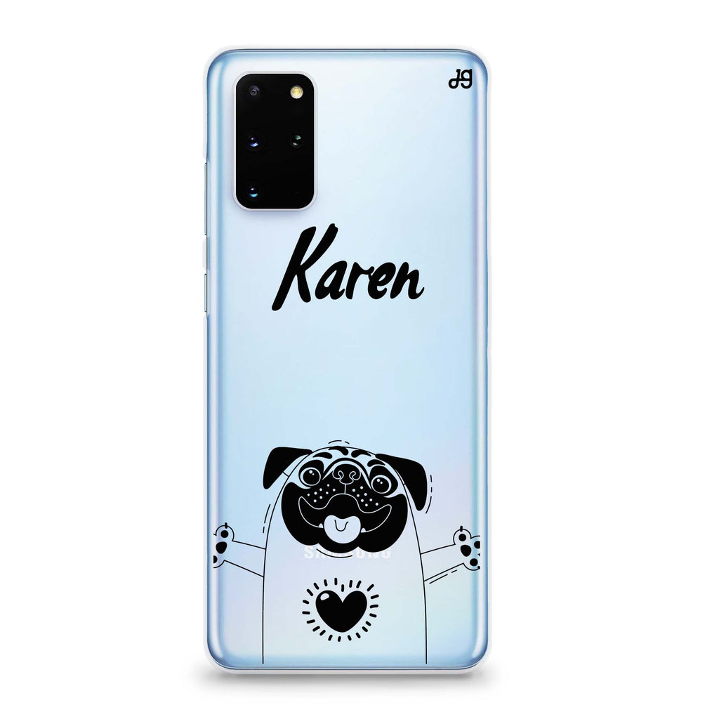 Lovely Pug Samsung S20 Soft Clear Case
