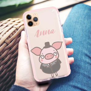 Funny Piggy Frosted Bumper Case