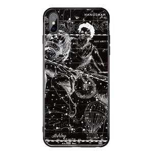 Star Map II iPhone XS Max Glass Case