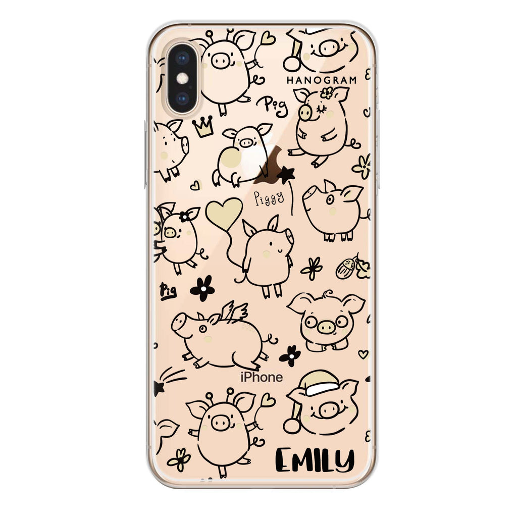 Lovely Piggy iPhone XS Max Soft Clear Case