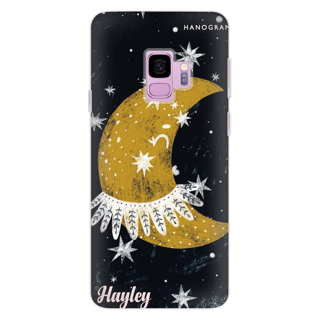 Cute Half Moon Samsung S9 Soft Clear Case