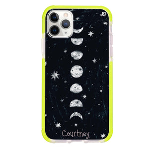 Phases of the moon Frosted Bumper Case