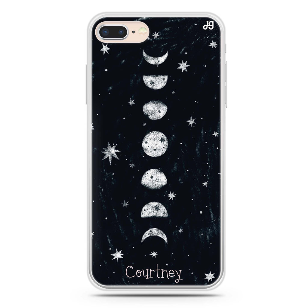 Phases of the moon iPhone 7 Plus Soft Clear Case