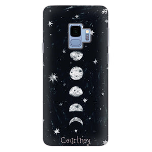Phases of the moon Samsung S9 Soft Clear Case