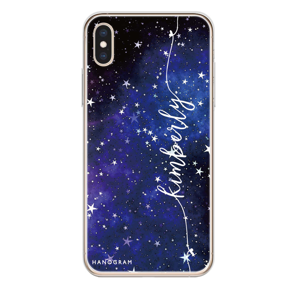 Stardust iPhone XS Max Soft Clear Case