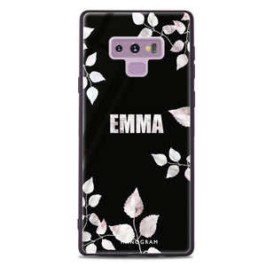 Simple Life & Floral Samsung Note 9 Glass Case