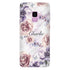 White Marble & Flower Samsung S9 Soft Clear Case