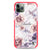 White Marble & Flower Shockproof Bumper Case