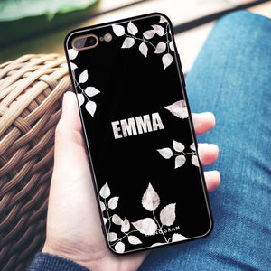 Life Simple Floral iPhone 8 Plus Glass Case