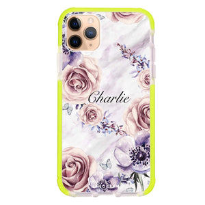 White Marble & Flower iPhone 11 Pro Max Frosted Bumper Case