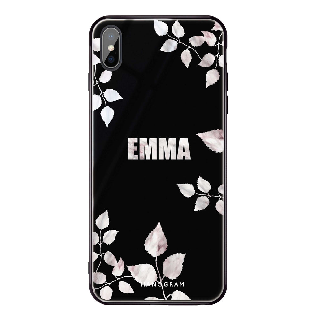 Life Simple Floral iPhone XS Max Glass Case