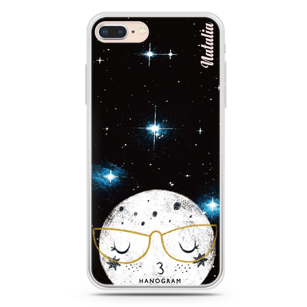 Glasses Moon iPhone 7 Plus Soft Clear Case