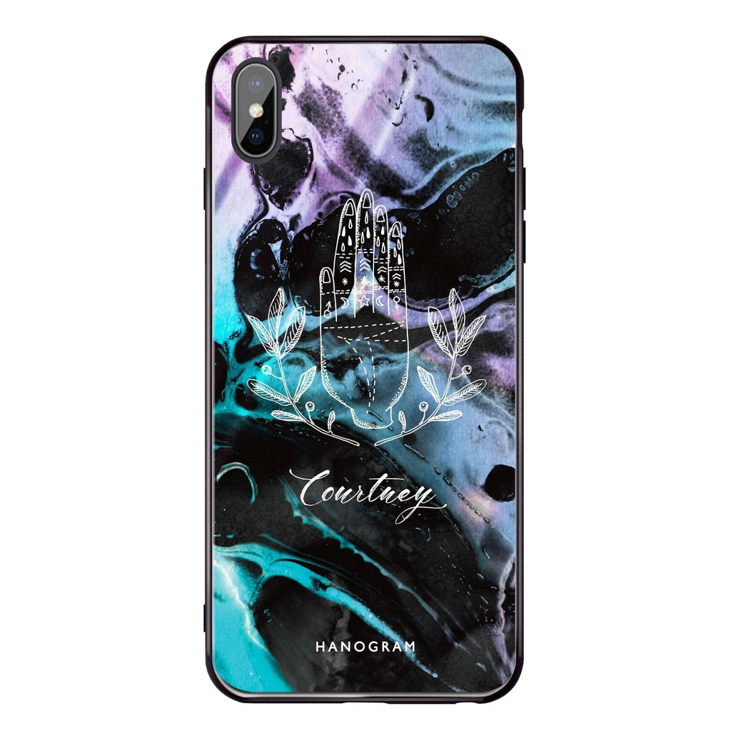 Marble Galaxy II iPhone XS Max Glass Case