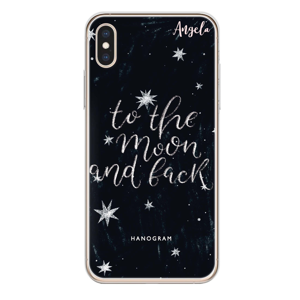 To the moon and back iPhone XS Soft Clear Case