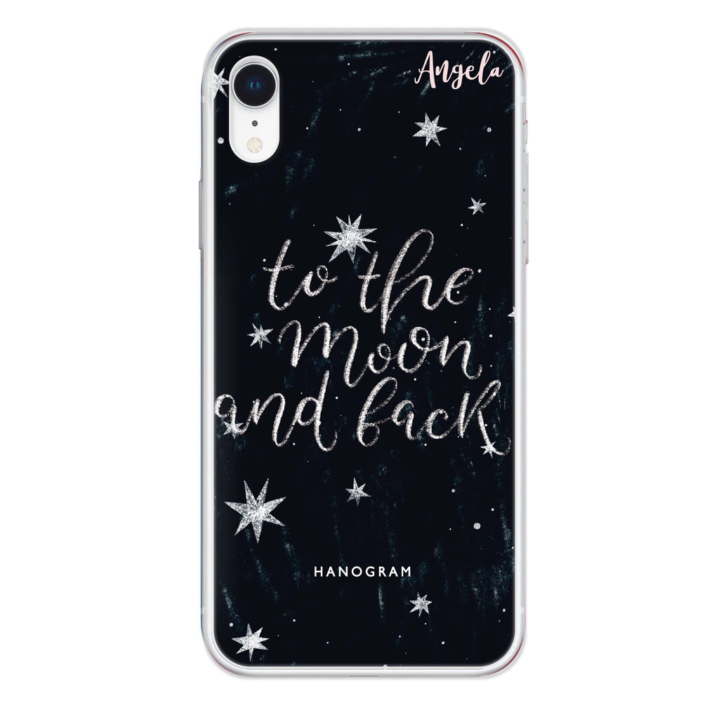 To the moon and back iPhone XR Soft Clear Case