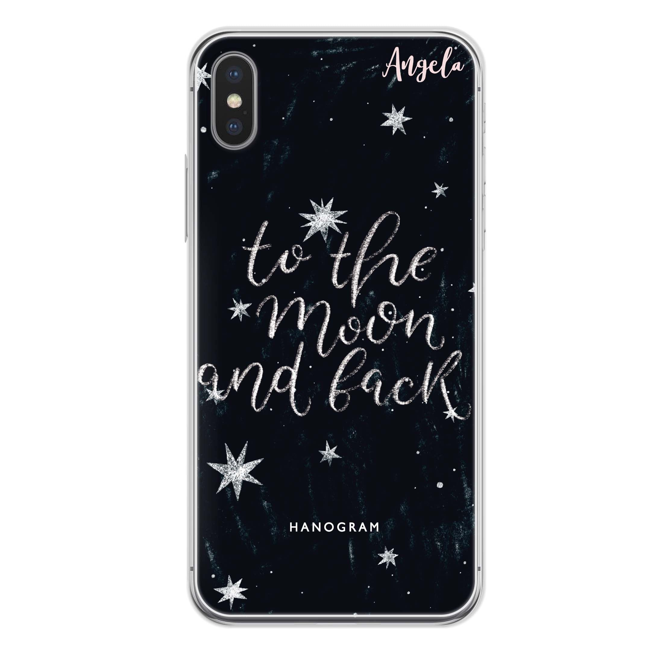 To the moon and back iPhone XS Max Soft Case   Custom Phone Case