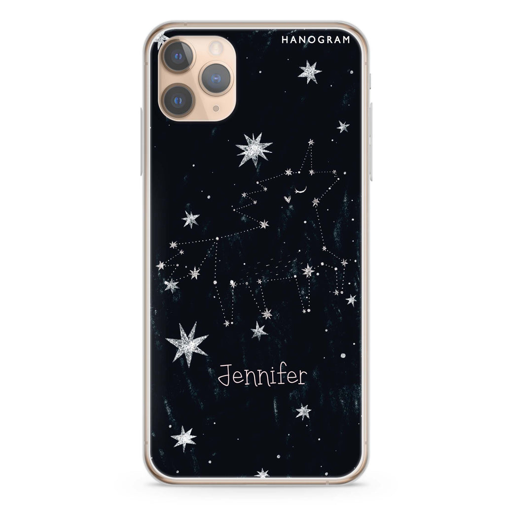 Unicorn Night iPhone 11 Pro Max Soft Clear Case