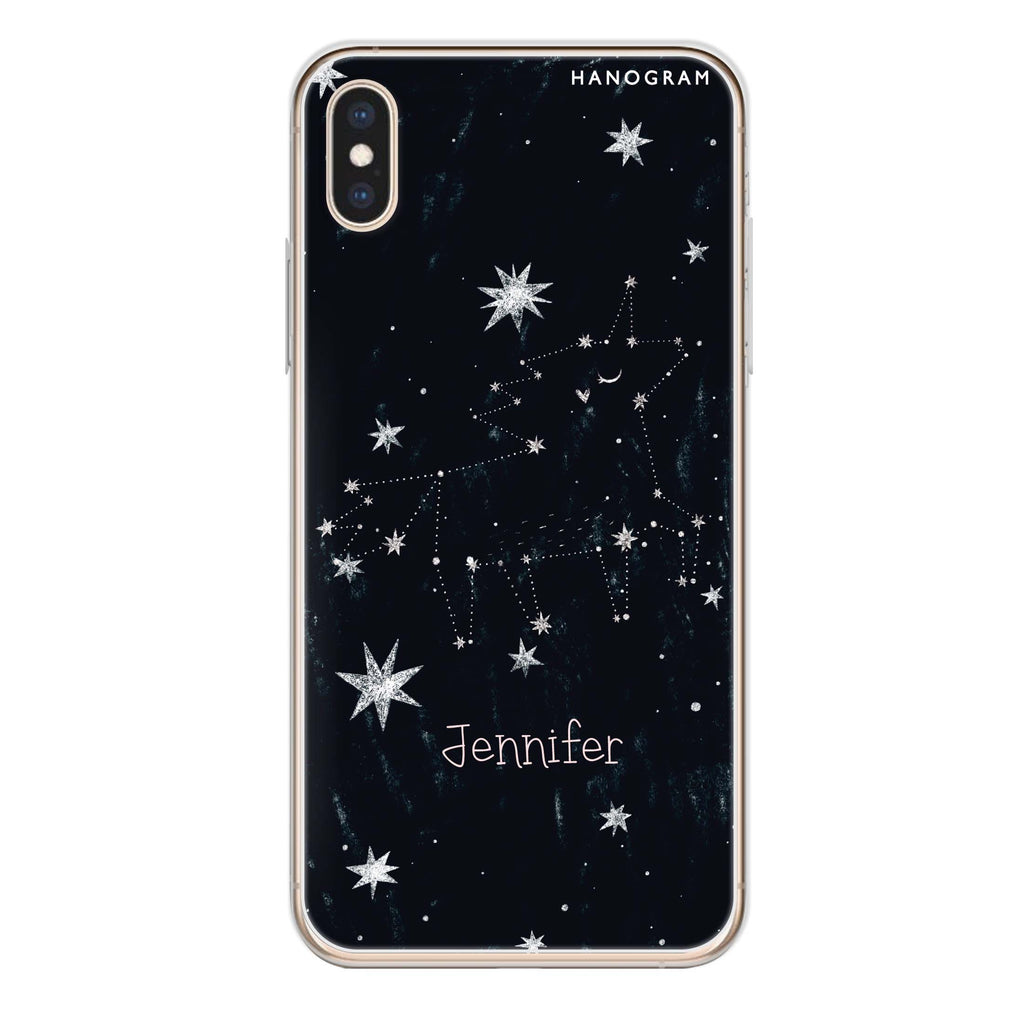 Unicorn Night iPhone XS Max Soft Clear Case