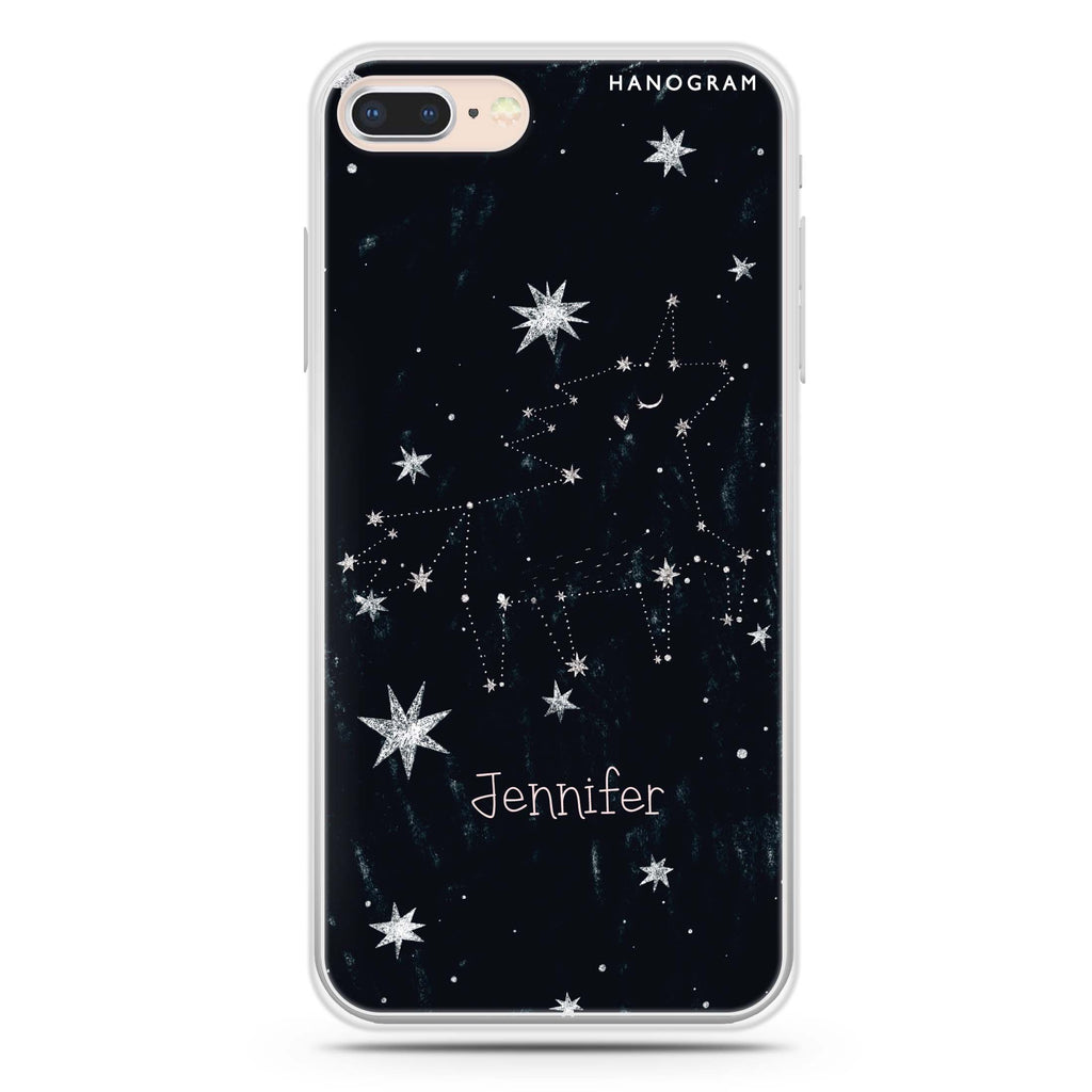 Unicorn Night iPhone 8 Soft Clear Case