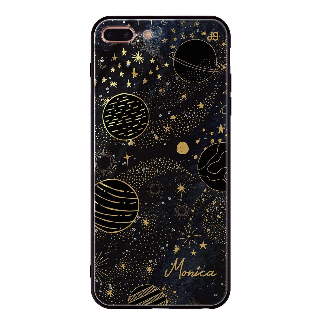 Golden Galaxy III iPhone 7 Plus Glass Case