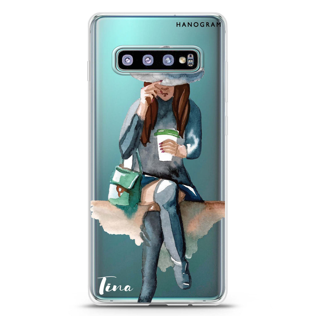 Coffee Girl Samsung S10 Plus Soft Clear Case