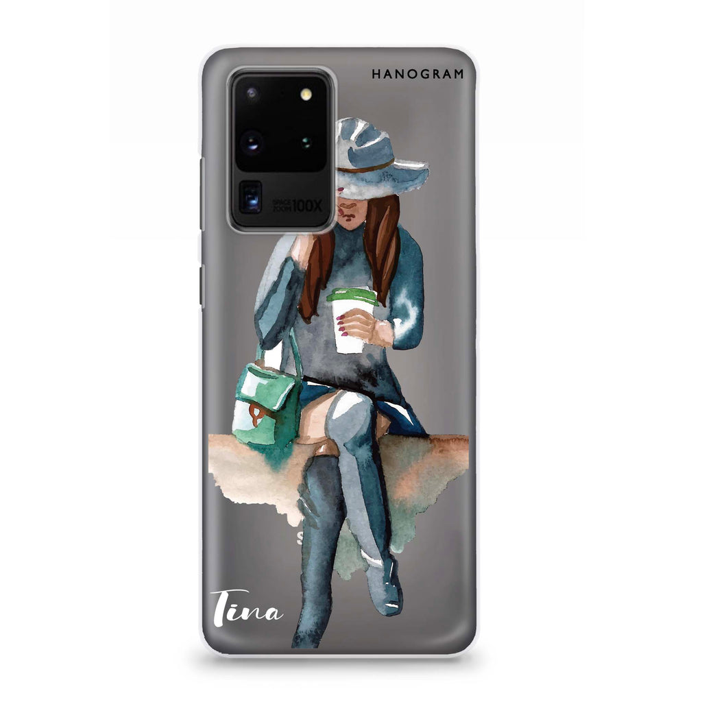 Coffee Girl Samsung S20 Ultra Soft Clear Case