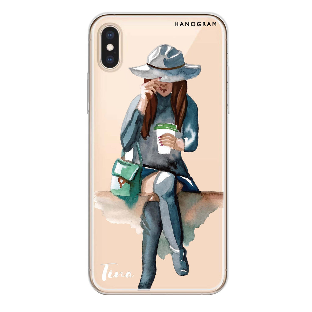 Coffee Girl iPhone XS Soft Clear Case