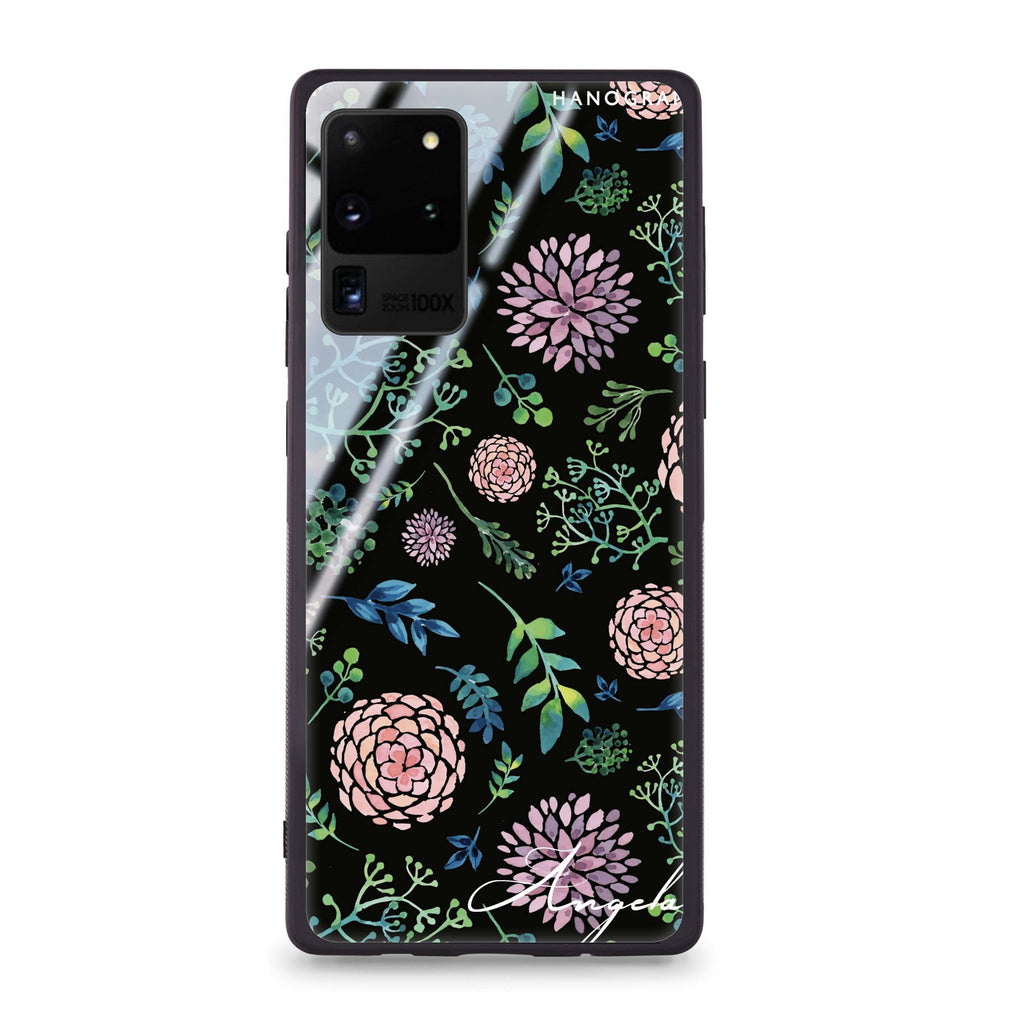 Paint Flower Samsung Glass Case